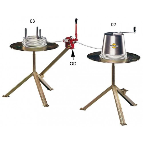 Item no. 02-03-OD - Hand-operated coilers and uncoilers