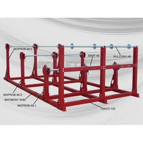 Racks à tourets horizontaux pour déroulement des tourets lourds - Chargement avec pont roulant