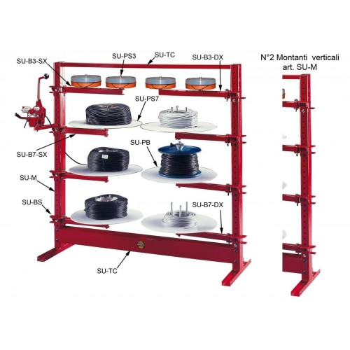 Modular racking for manual loading and payoff coils max. Ø1000