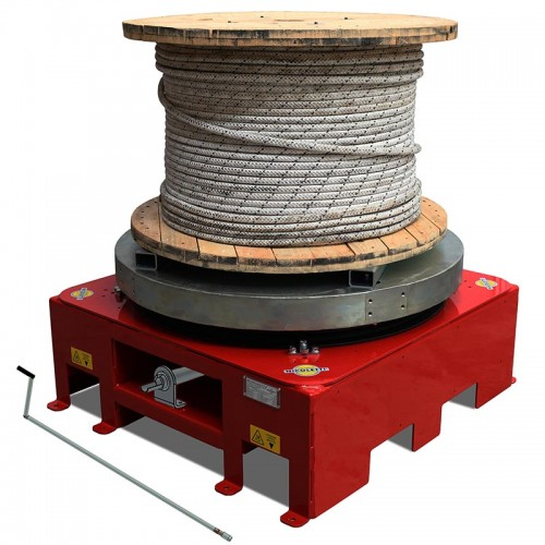 UNWINDING TURNTABLE WITH AIR-OPERATED BRAKE - SVI/FR/20