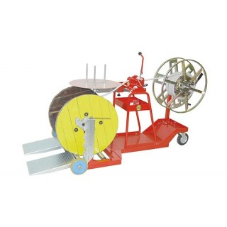 DRUM WINDERS/COILERS - HAND-OPERATED MOBILE STAND-MOUNTED - COILS Ø700MM DRUMS Ø1250MM