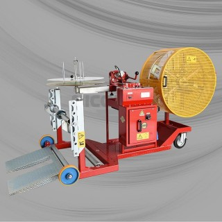 Item no. ASB1-M/V/OE800 - Motorized drum-to-coil and coil-to-coil rewinder