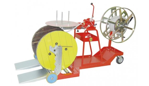 Item no. ASB-1 - Drum-to-coil and coil-to-coil rewinder